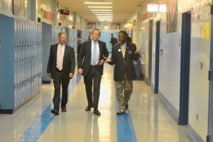 Australian Prime Minister Tours P-TECH School with IBM in New York City