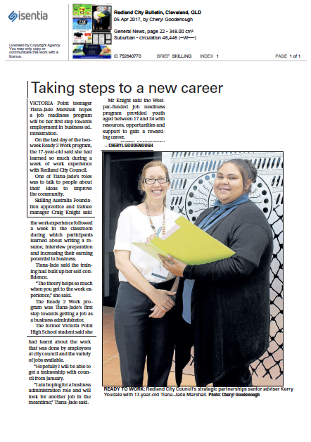 Taking Steps to a New Career Redland City Bulletin QLD